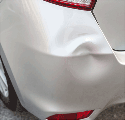 Car with Dent in San Antonio